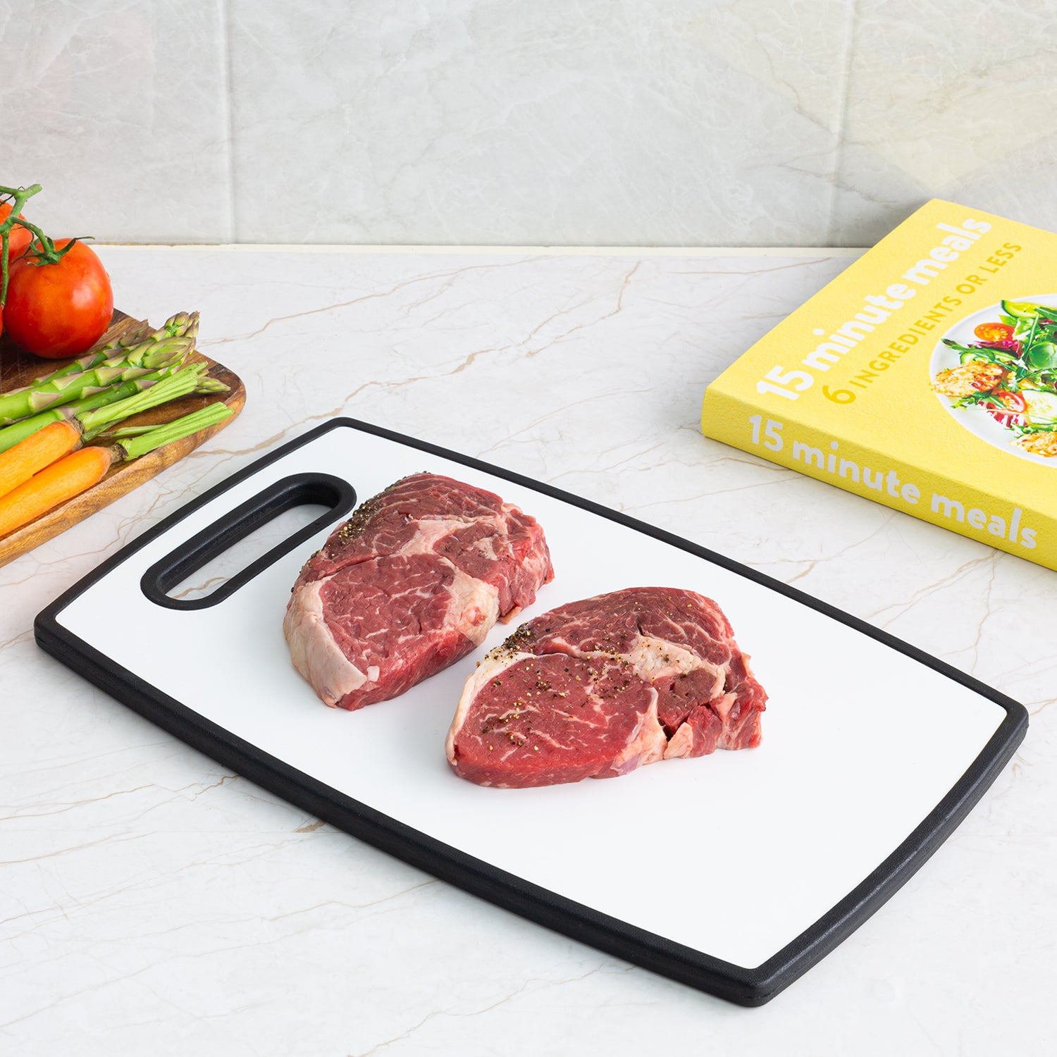 No More Cross Contamination With The Double Sided Chopping Board - 3 Sizes Available!