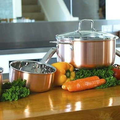 Quick Clean healthy cooking Genuine Tri-Ply Traditional Copper Lifetime Cookware- FREE POSTAGE!