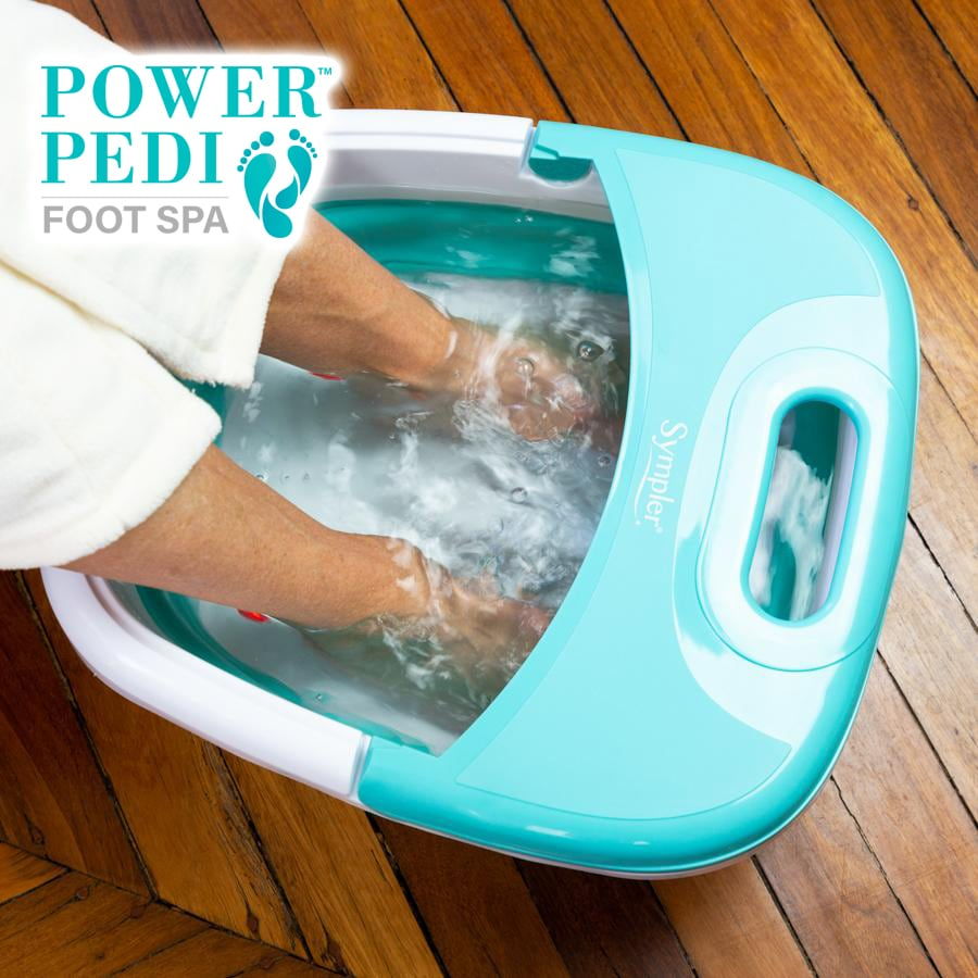 TV Special ALL NEW Power Pedi Foot Spa + BONUS Pain & Puff Roller + 5pc Pedicure Kit