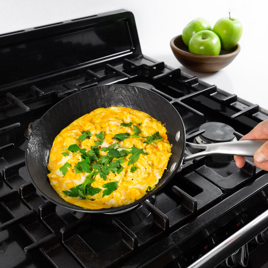Kleva Sahara Slate TV Special - The Revolutionary Non-Stick Frying Pans + BONUS Timer Lid + Perfect Pour!