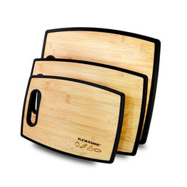 Complete 3 Pack - Genuine Bamboo and Polypropylene Reversible Chopping Boards!