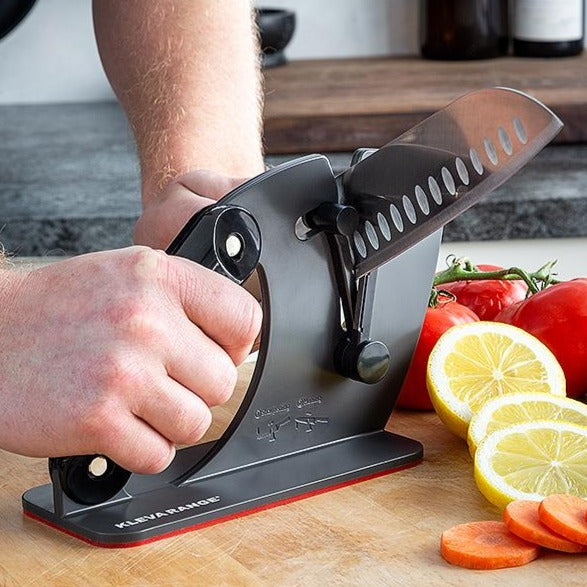 ALL NEW KNIFE SHARPENER Kleva Sharp Master + Kleva Cut Santoku Knife $70 In Value!
