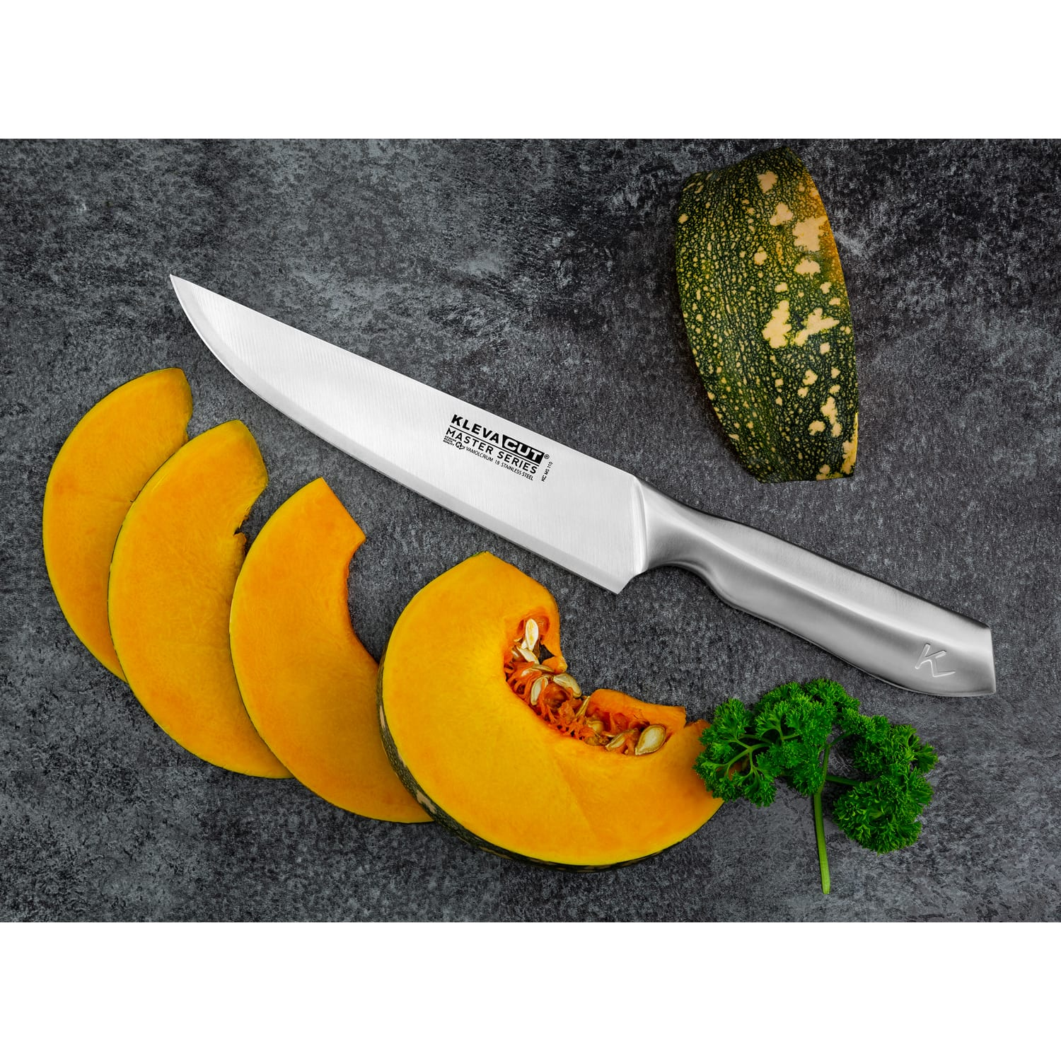 KlevaCut® Master Series New 3pc Knife Set - Chef, Utility + Paring Knives