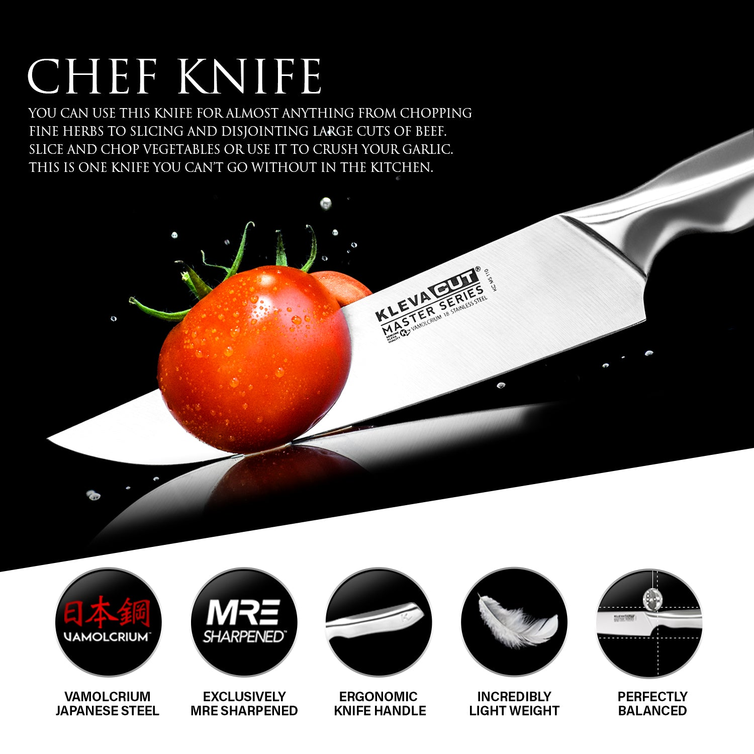 KlevaCut® Master Series Professional Chef Knife - 20cm