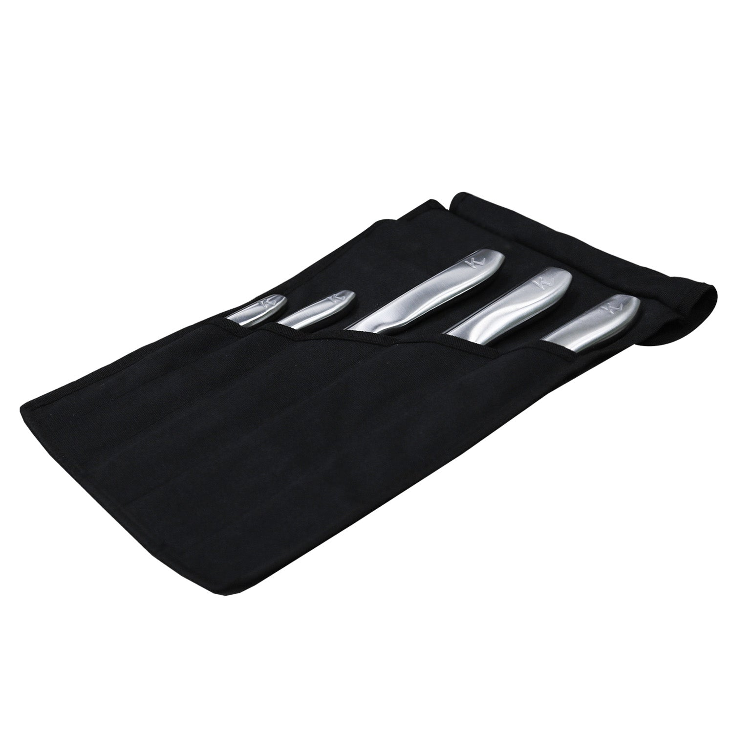 5 Piece Professional KlevaCut® Master Series in the knife satchel