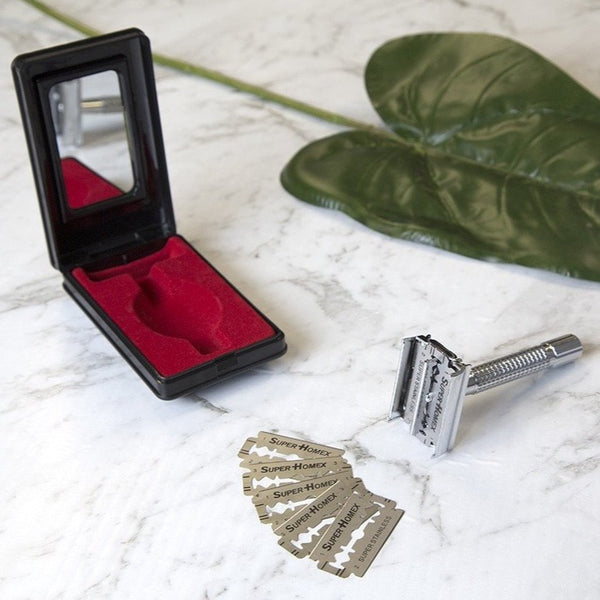 6 Months worth of SHAVING + FREE BLADES Modern Version of the Classic Safety Razor GET 1 FREE + FREE BLADES 2 for $49