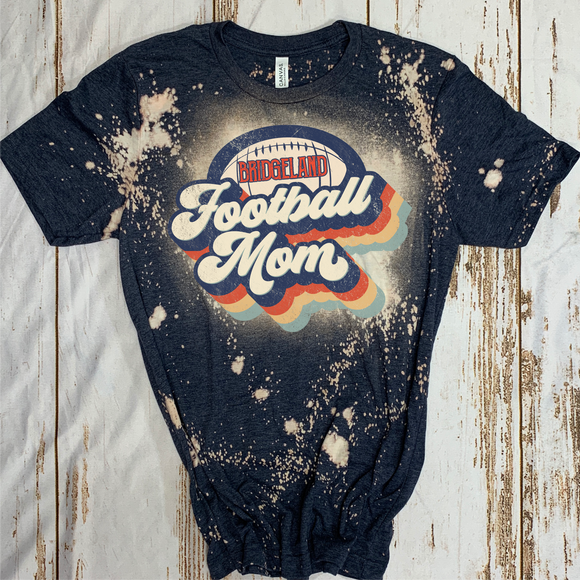 Bridgeland Bleach Football mom tee