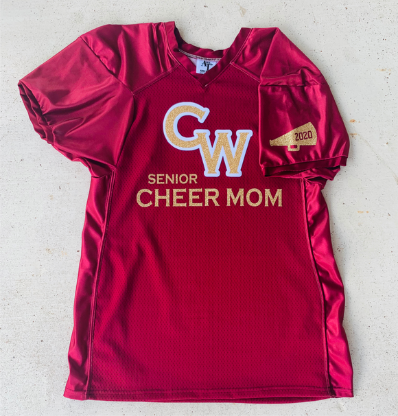 Senior cheer mom jersey