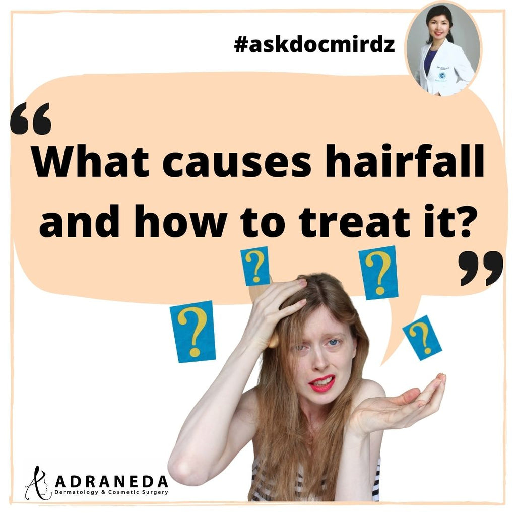 What causes hairfall and how to treat it?