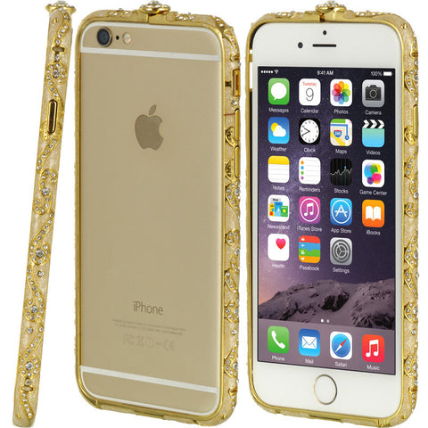 APPLE IPHONE 6 DIAMOND ALUMINUM BUMPER ANCIENT PAINT GOLD