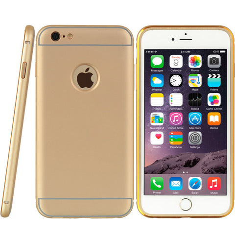 APPLE IPHONE 6 PLUS MARQUEE ALUMINUM BUMPER CLIP ON PC GOLD