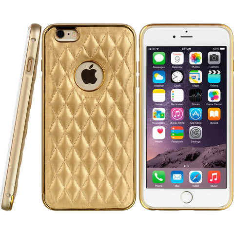 APPLE IPHONE 6 PLUS ALUMINUM BUMPER WITH QUILTED BACKING - GO