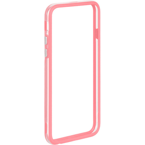 APPLE IPHONE 6/6S HARD BUMPER CANDY CASE PINK TRIM