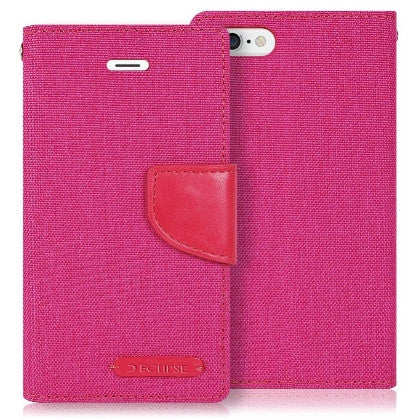 ECLIPSE For Coolpad Catalyst (T-Mobile/MetroPCS) Canvas Pocket Wallet Credit Card Holder Case, Pink