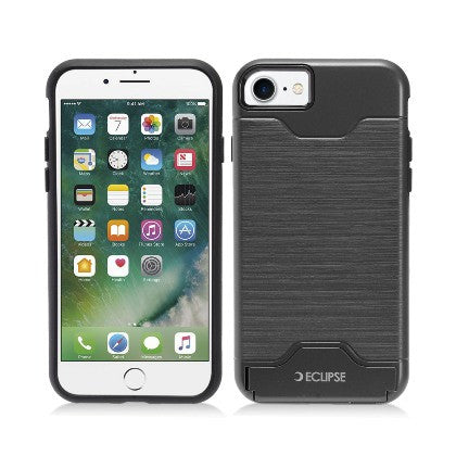 ECLIPSE For Apple iPhone 7 4.7 Slim Fit Dual Hybrid Protective Cover w/Stand, Black