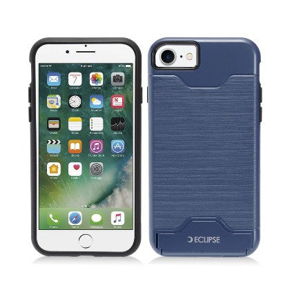 ECLIPSE For Apple iPhone 7 4.7 Slim Fit Dual Hybrid Protective Cover w/Stand, Blue