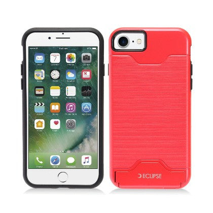ECLIPSE For Apple iPhone 7 4.7 Slim Fit Dual Hybrid Protective Cover w/Stand, Red