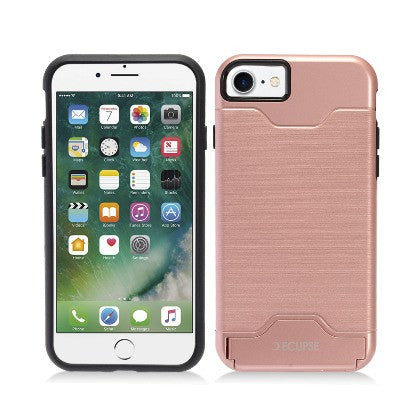 ECLIPSE For Apple iPhone 7 4.7 Slim Fit Dual Hybrid Protective Cover w/Stand, Rose Gold