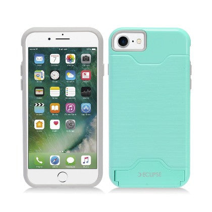 ECLIPSE For Apple iPhone 7 4.7 Slim Fit Dual Hybrid Protective Cover w/Stand, Mint