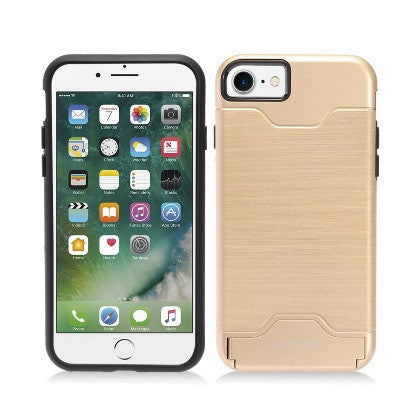 ECLIPSE For Apple iPhone 7 4.7 Slim Fit Dual Hybrid Protective Cover w/Stand, Gold