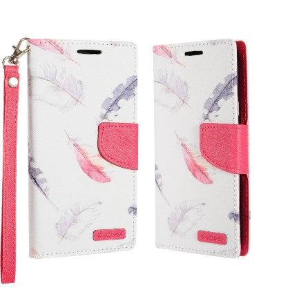 ECLIPSE**PDA**For Apple iPhone 7 5.5 Plus Luxury Flip PU Leather Image Folio Cover Wallet, Feathers