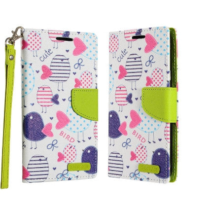 ECLIPSE**PDA**For Apple iPhone 7 5.5 Plus Luxury Flip PU Leather Image Folio Cover Wallet, Cute Bird