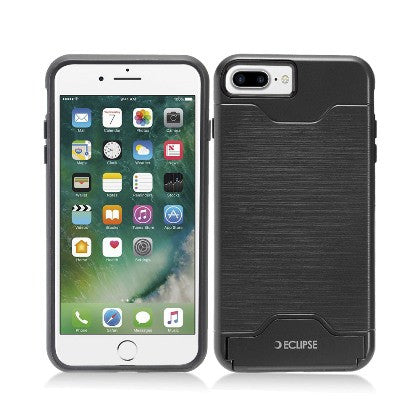 ECLIPSE**PDA**For Apple iPhone 7 5.5 Plus Slim Fit Dual Hybrid Protective Cover w/Stand, Black