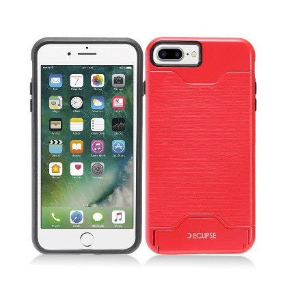 ECLIPSE**PDA**For Apple iPhone 7 5.5 Plus Slim Fit Dual Hybrid Protective Cover w/Stand, Red