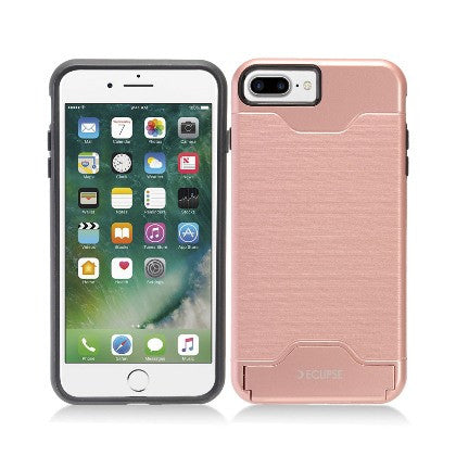 ECLIPSE**PDA**For Apple iPhone 7 5.5 Plus Slim Fit Dual Hybrid Protective Cover w/Stand, Rose Gold