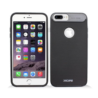 ECLIPSE**PDA**For Apple iPhone 7 5.5 Plus Slim Fit Dual Hybrid Protective Cover, Black