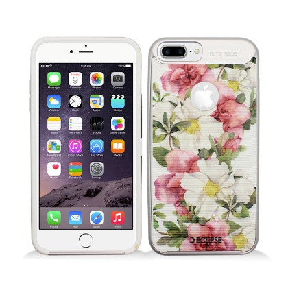 ECLIPSE**PDA**For Apple iPhone 7 5.5 Plus Slim Fit Combo Hybrid Dual Layer Protector Cover, Damask Floral Pattern