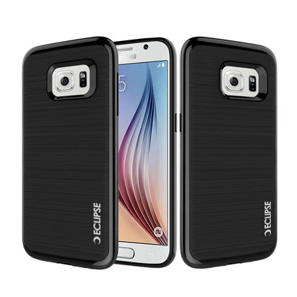 ECLIPSE **PDA**For Samsung Galaxy S7 edge (Verizon/ AT&T/Sprint/T-Mobile/U.S. Cellular) 3 in 1 Slim Fit Protective Black Hard Cover & Black TPU
