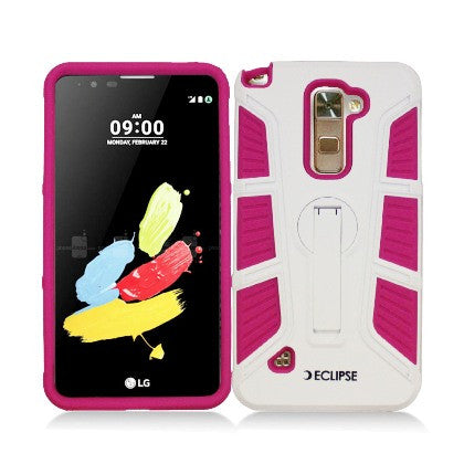 **PDA**ECLIPSE For Samsung Galaxy J7/J700 (2015) Dual Layer Hybrid Rugged Cover, 360 Degree Rotatable Kickstand, Hot Pink