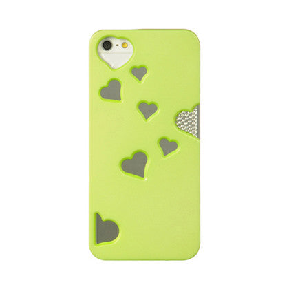 APPLE IPHONE 5/5S HEART REFLECTION MIRROR CASE - GREEN