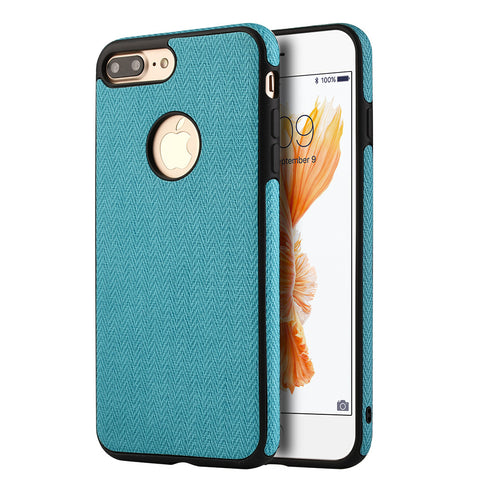 APPLE IPHONE 7 PLUS LEATHERETTE TPU COVER CASE - TEAL