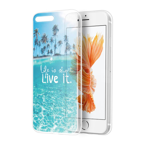 APPLE IPHONE 7 PLUS MIRAGE SERIES SOFT TPU COVER CASE - PARADISE  COVE