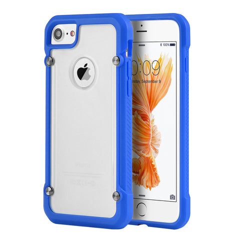 APPLE IPHONE 7 EQUIPMENT FUSION CANDY CASE TPU WITH TINTED   ACRYLIC BACK - BLUE