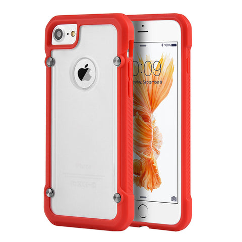 APPLE IPHONE 7 EQUIPMENT FUSION CANDY CASE TPU WITH TINTED   ACRYLIC BACK - RED
