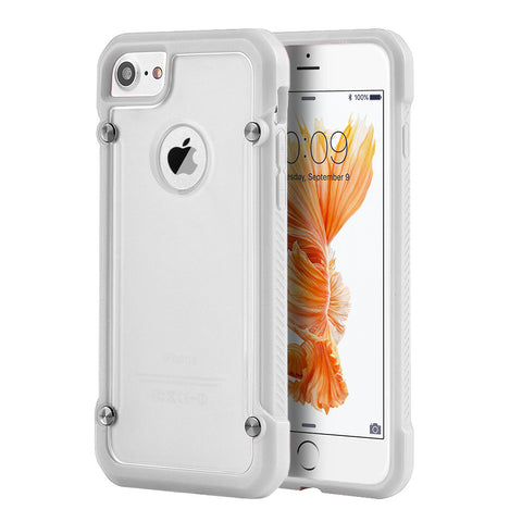 APPLE IPHONE 7 EQUIPMENT FUSION CANDY CASE TPU WITH TINTED   ACRYLIC BACK - WHITE