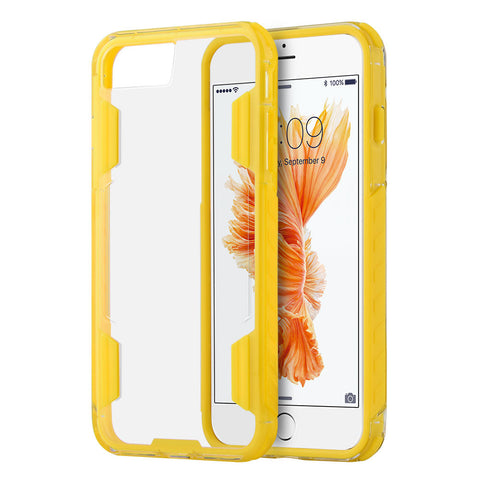 APPLE IPHONE 7 AIR DUTY FUSION CANDY CASE W/ MILITARY GRADE  SHOCK RESISTANT PROTECTION - YELLOW