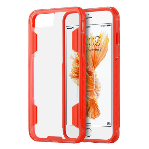 APPLE IPHONE 7 PLUS AIR DUTY FUSION CANDY CASE WITH MILITARY GRADE SHOCK RESISTANT PROTECTION - RED
