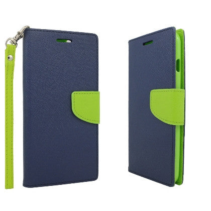 **PDA**For Apple iPhone 6/6S plus 5.5 inch 2 Tone Deluxe Dual-Use Flip PU Leather Case, Navy/Green
