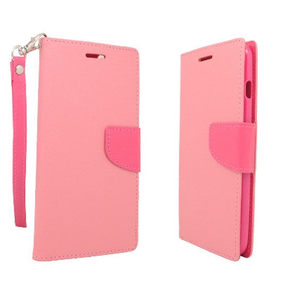 **PDA**For Apple iPhone 6/6S plus 5.5 inch 2 Tone Deluxe Dual-Use Flip PU Leather Case, Pink/Hot Pink