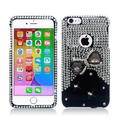 **PDA**For Apple iPhone 6/6S plus 5.5 inch 3D Spot Diamond, Bow Tie, Black