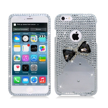 **PDA**For Apple iPhone 6/6S plus 5.5 inch 3D Spot Diamond Protector, Bow Tie, Clear