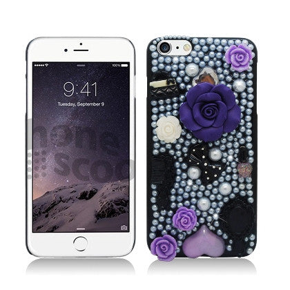 **PDA**For Apple iPhone 6/6S plus 5.5 inch 3D Special, Rose Flowers Black