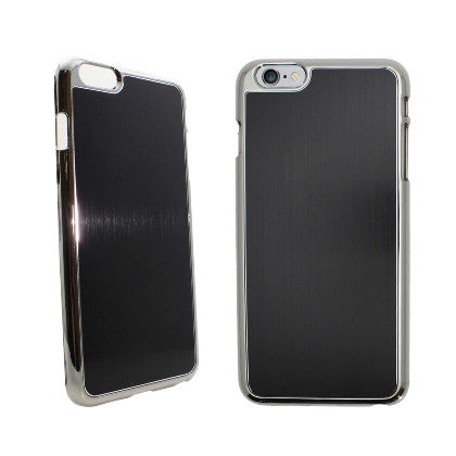**PDA**For Apple iPhone 6/6S plus 5.5 inch Aluminum Chrome Cover, Black