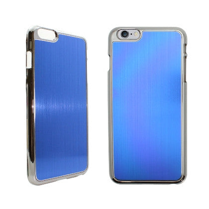 **PDA**For Apple iPhone 6/6S plus 5.5 inch Aluminum Chrome Cover, Blue