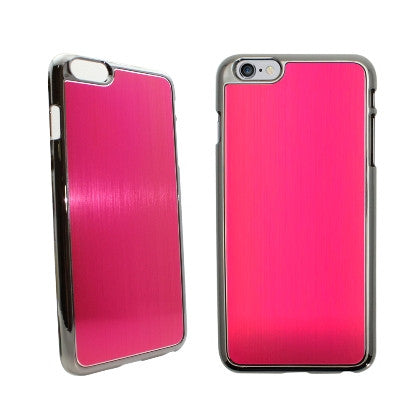 **PDA**For Apple iPhone 6/6S plus 5.5 inch Aluminum Chrome Cover, Hot Pink