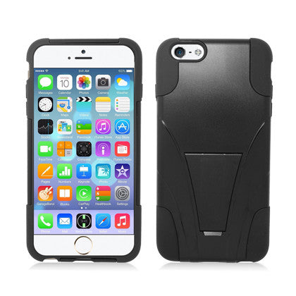 **PDA**For Apple iPhone 6/6S plus 5.5 inch Black Skin+Black Cover